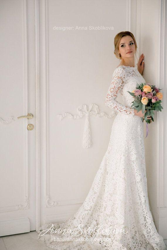 Langärmeliges Hochzeitskleid Hochzeitskleid Spitzenhochzeitskleid #hochzeitskl…
