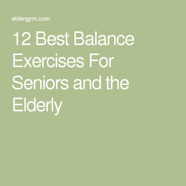 Best exercises for seniors