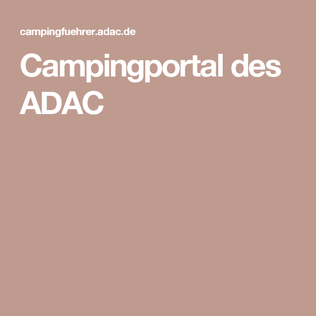 Campingportal des ADAC