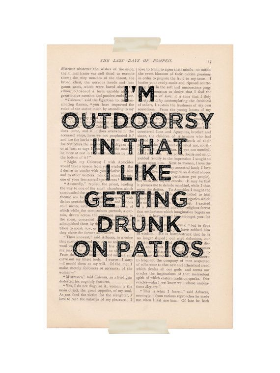 dictionary art print - I'm OUTDOORSY In That I Like ...