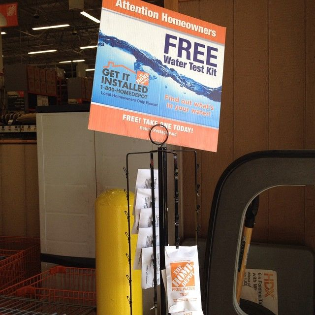 Free Water Test Kit At Home Depot See If Your Local Store Has Them More Free Stuff At Freebie Depot Com Home Depot Homeowner Installation