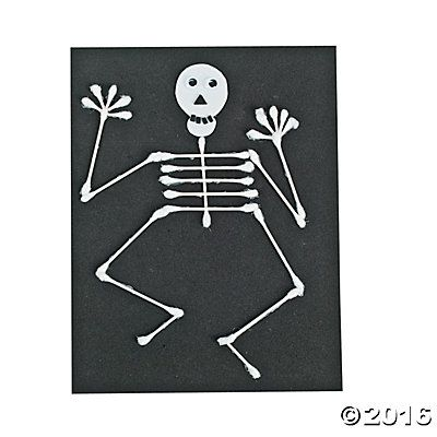 Halloween Cotton Swab Skeleton Idea* Ad | Affiliate Link