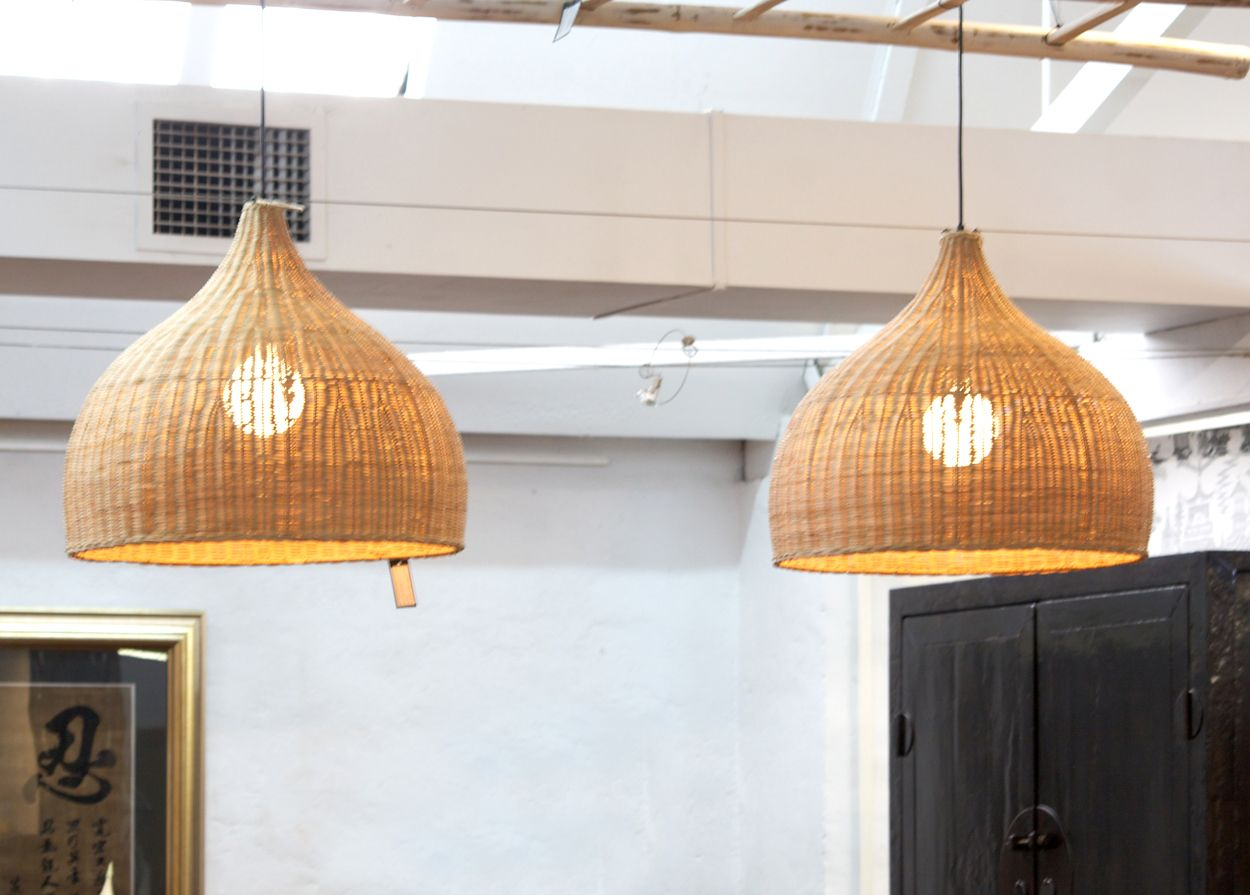 Bamboo Wicker Rattan Wave Shade Pendant Light Fixture Rustic Vintage Japanese Lamp Suspension Home Indoor Dining Table Room Ture 100% Guarantee Pendant Lights