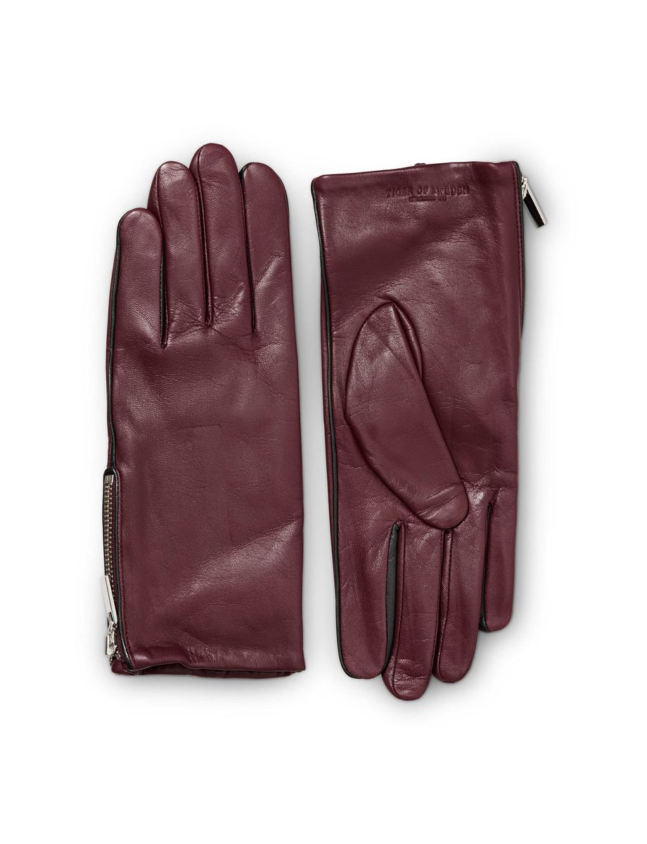 Tiger leather driving gloves - Pissarro Gloves Women S Gloves In Nappa Leather Features Zip Detail And Contrast Coloured Piping