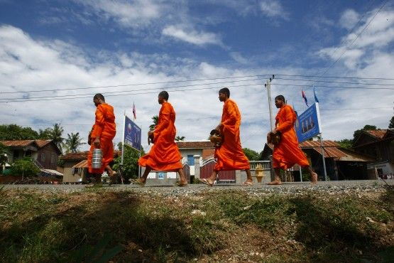 Monks, Young And Old, March In Protest Of Cambodian Hydroelectric Project | ThinkProgress
