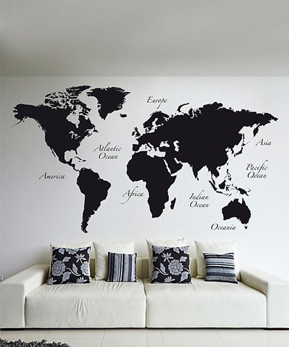 Love this black world map wall decal set by wallpops on zulily love this black world map wall decal set by wallpops on zulily zulilyfinds gumiabroncs Images