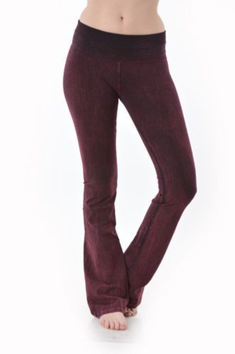 e6b7df434ff07 Pants 63863: T-Party Mineral Wash Yoga Pants Burgundy Cj7477 -> BUY IT NOW  ONLY: $30.99 on eBay!