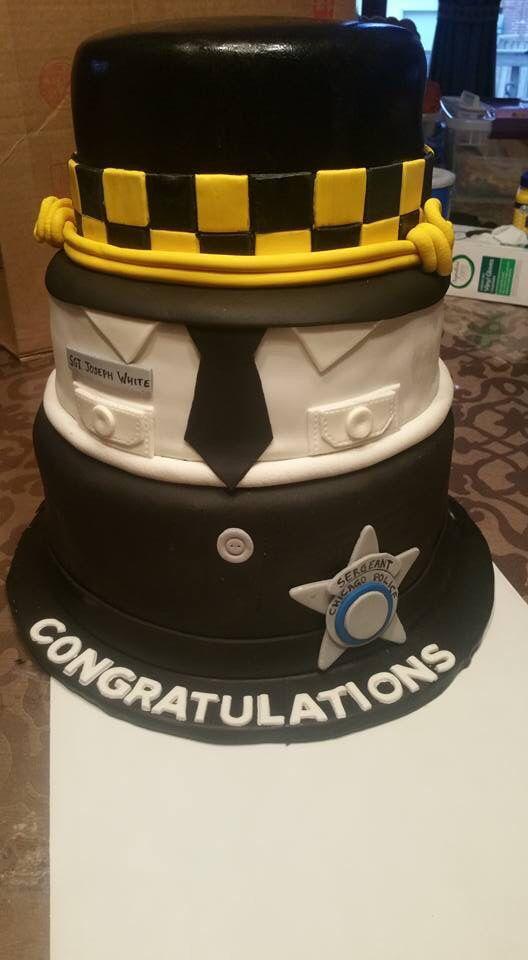 Sergeant Cake Police Cop Cake Promotion Cakes Pinterest