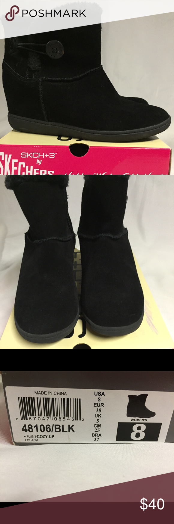 cheap for discount f67da 8673d Skechers hidden wedge heel boots Worn only once, like new Skechers Shoes  Ankle Boots   Booties