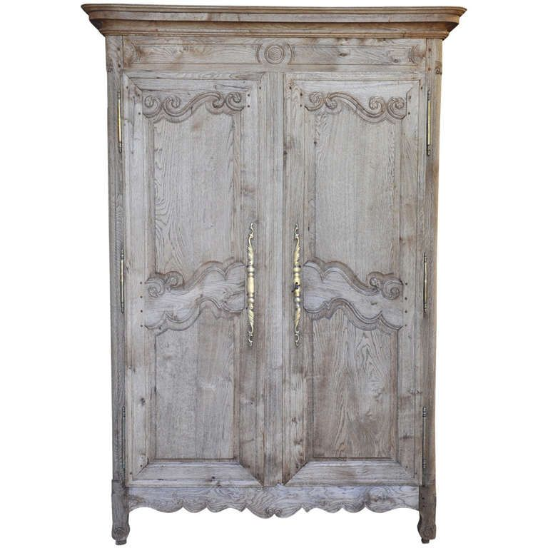 French Antique Mid 19th Century Armoire In Bleached Oak | 1stdibs.com. Oak  WardrobeModern ...