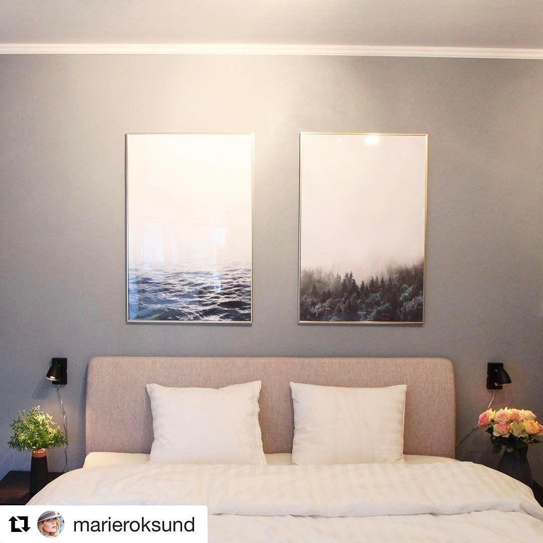 Vi runder av en flott uke  med dette flotte bildet fra @marieroksund  lampene på bildet er fra @markslojd #lightupno  Soverommet kommer seg! Nå kan vi lese VG på senga. #lightupno