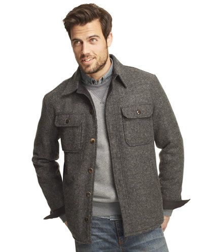 L.L. Bean - Lined Wool-Blend Shirt Jacket | Of Manly Good Looks ...
