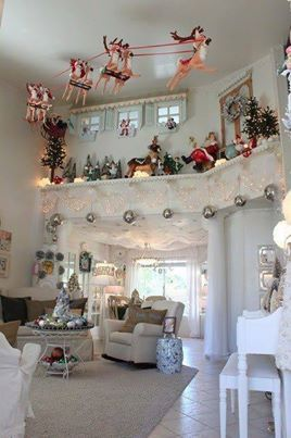 Great Idea For Vaulted Ceiling Christmas Party Decorations Diy