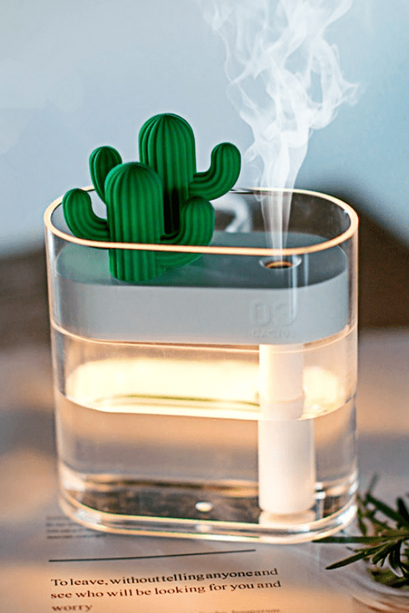 Photo of 160ml Cactus Ultrasonic Air Humidifier – Gold Miss