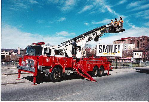 1995 yonkers fire mack cf tower ladder aerialscope 71 yonkers fire