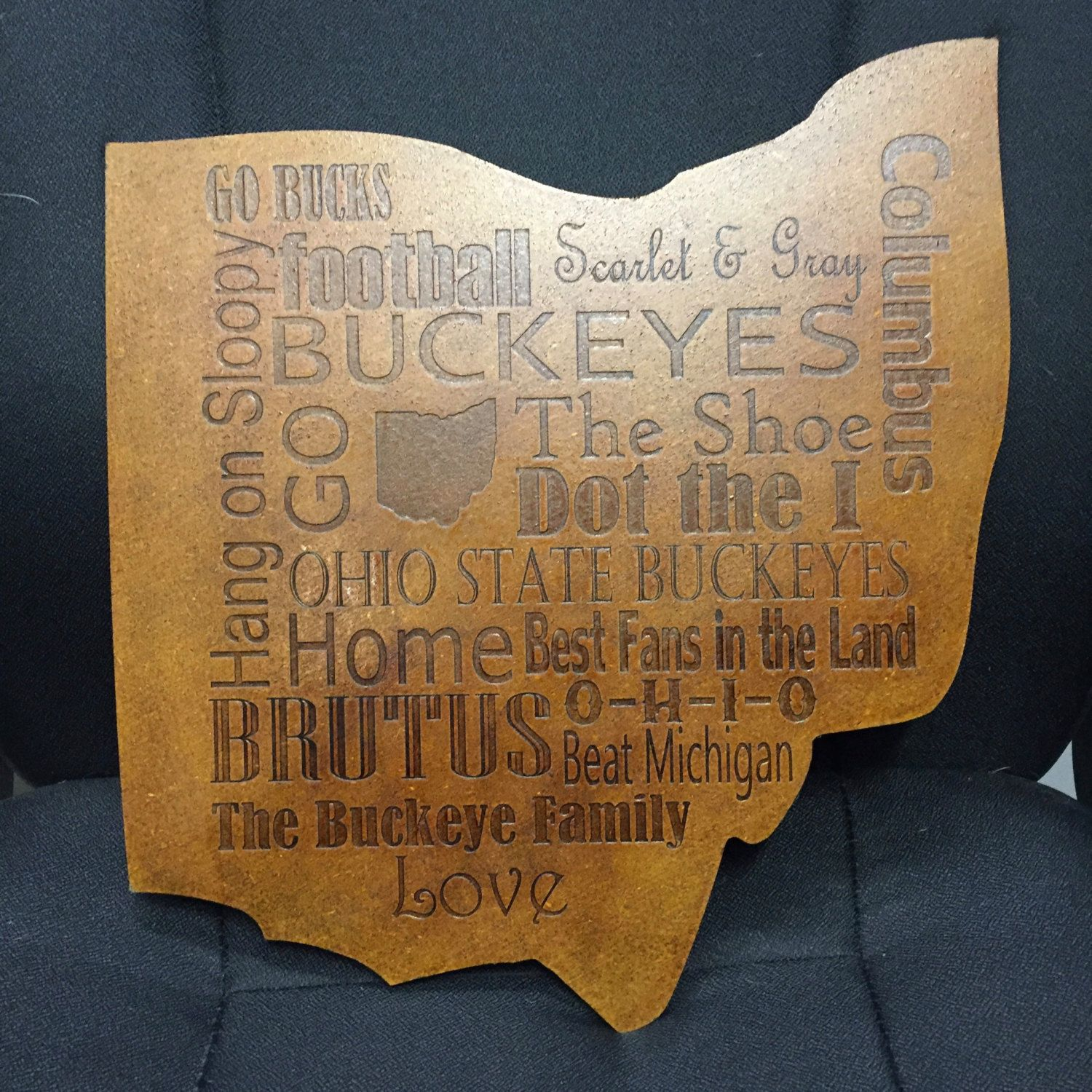 Ohio State Wall Decor Great Unique Ohio State Shaped Plaque