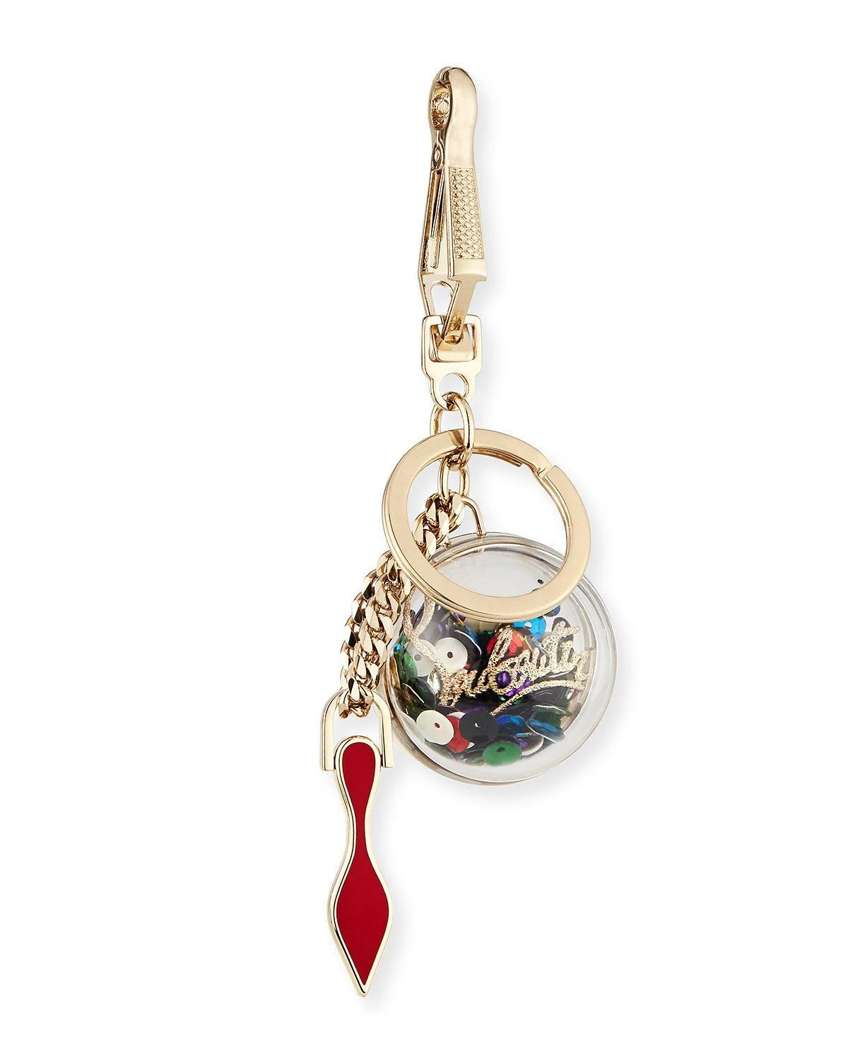 8a71b67d304 Christian Louboutin Golden Sequin Key Ring Bag Charm   Products ...