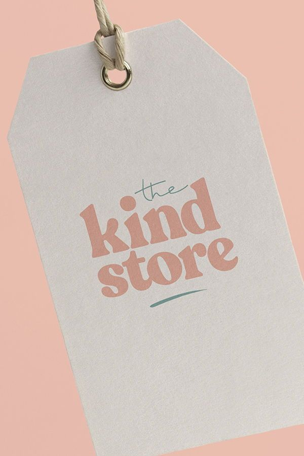 Brand identity logo design I created for The Kind Store who specialise in zero waste vegan beauty and homeware products.  #branding #zerowaste #vegan #logo #logodesign #brandmark #brandidentity #typography #brandstyling #beauty #ethical #ecofriendly #brand