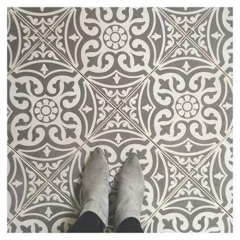 Devon Stone Grey Feature Floor Tile 33x33cm Happy Customer Kitchen Floor Tile Patterned Floor Tiles Kitchen Flooring