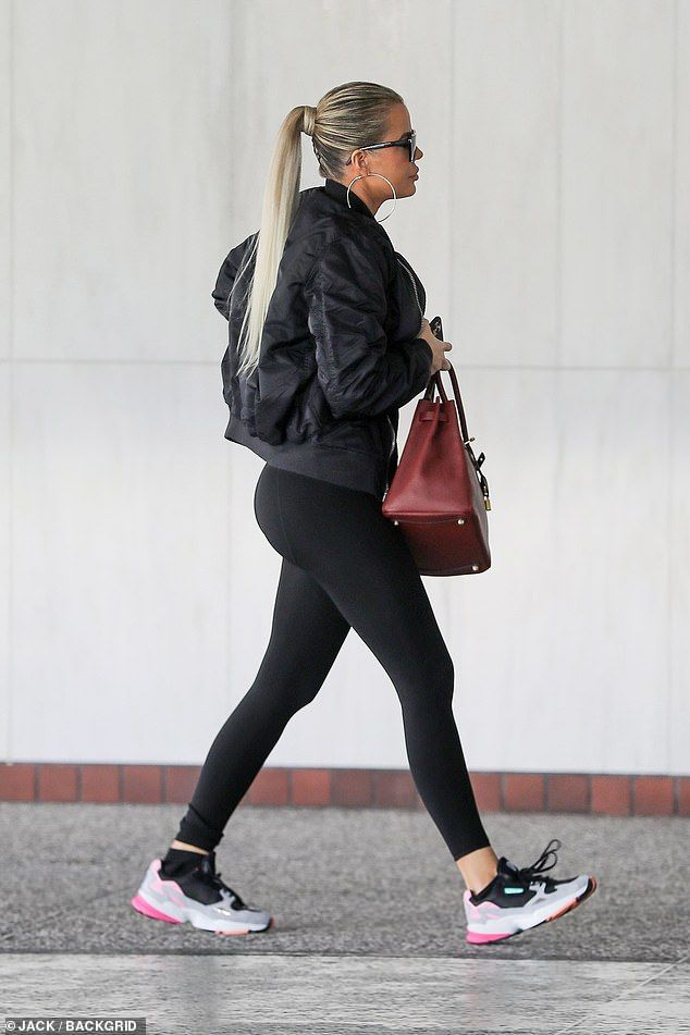 Khloe Kardashian cuts an athletic look to run errands with Malika Haqq