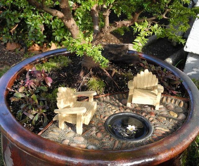 Pflanztopf dekorieren bepflanzen Garten Ideen miniaturgarten - gartenideen