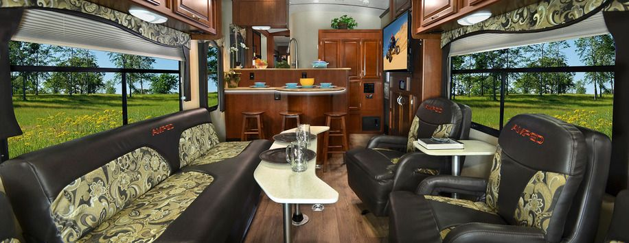 The New Amped 32ks Is The Only Toy Hauler Travel Trailer With A