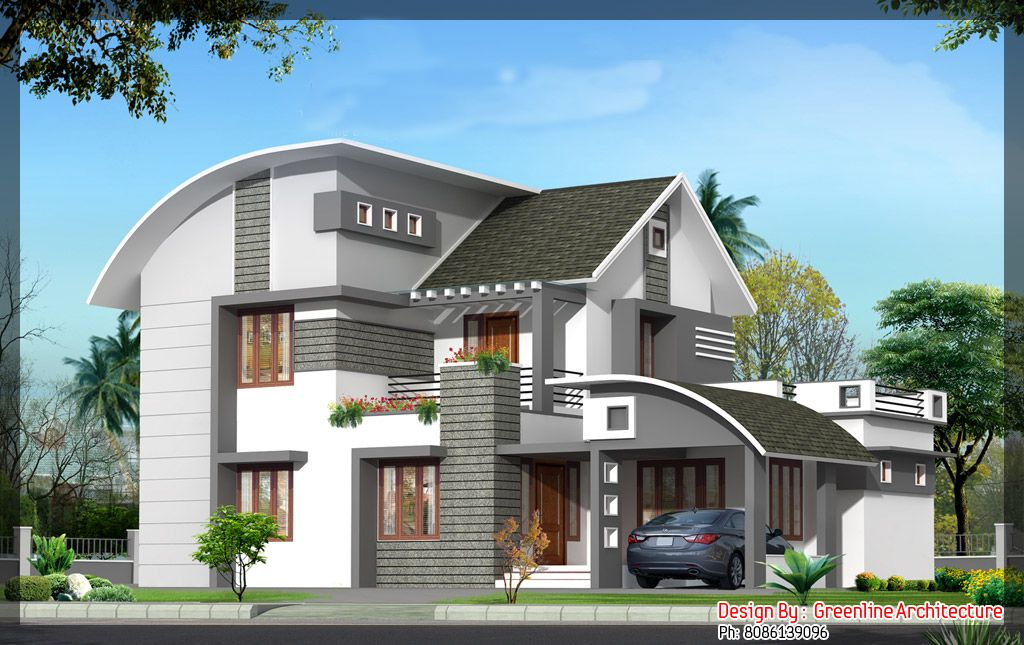 Designing Home Contemporary 18 House Plan And Elevation For 4BHK House :  2000 Sq