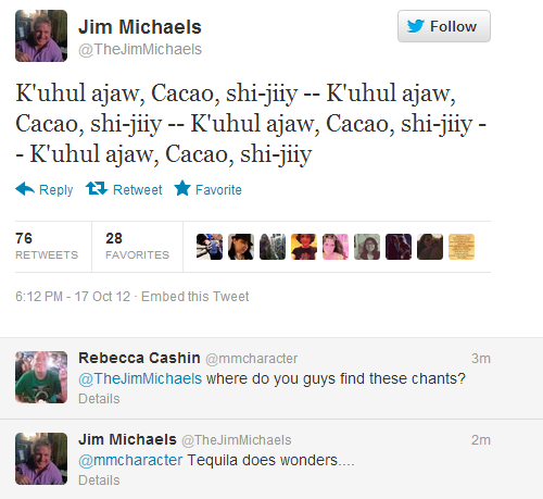 """Jim Micheals on the chant from """"Heartache"""".The guy cracks me up. <3 #Supernatural"""