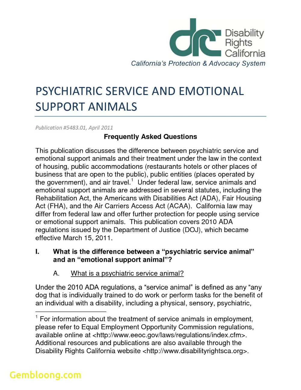 Therapy Animal Letter Hrsport for Emotional Support Animal