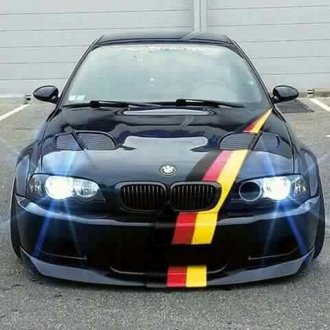 BMW E46 M3 black slammed ///M stripe