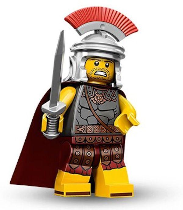 Series 9 lego mini figure ROMAN EMPEROR no tile