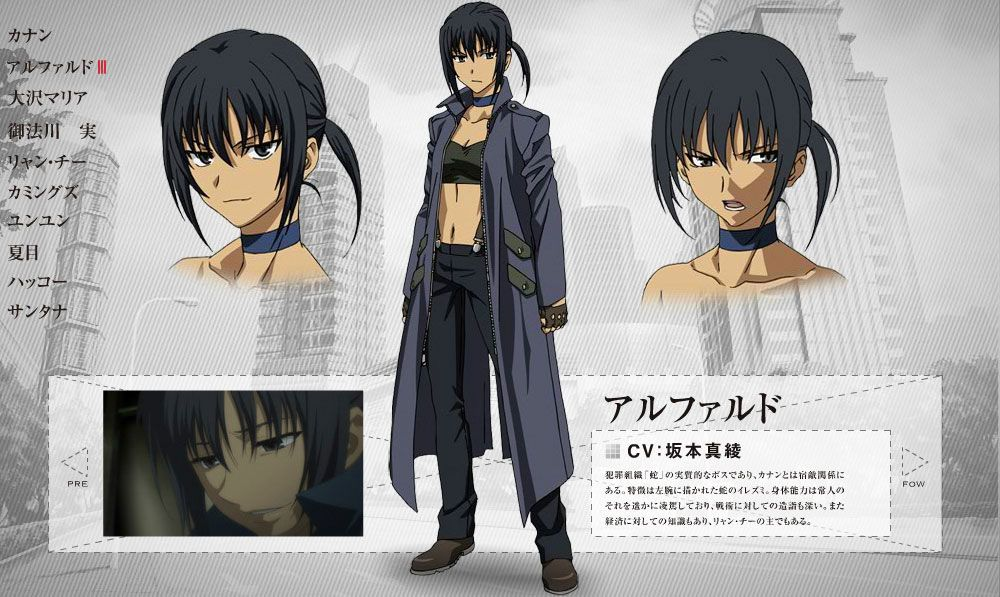 CHARACTER|CANAAN Canaan anime, Anime outfits, Character