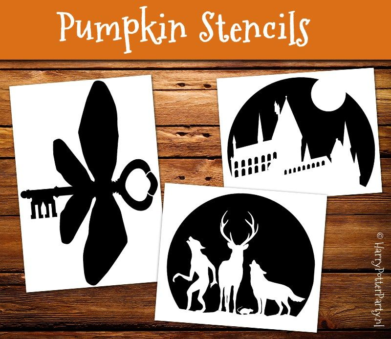 Harry potter pumpkin stencil printables make the most for Harry potter pumpkin carving templates