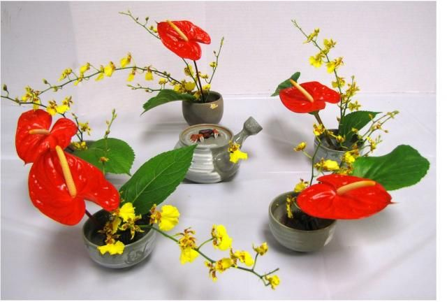 Beautiful japanese arrangements with red and yellow flowers and beautiful japanese arrangements with red and yellow flowers and green leavesg mightylinksfo