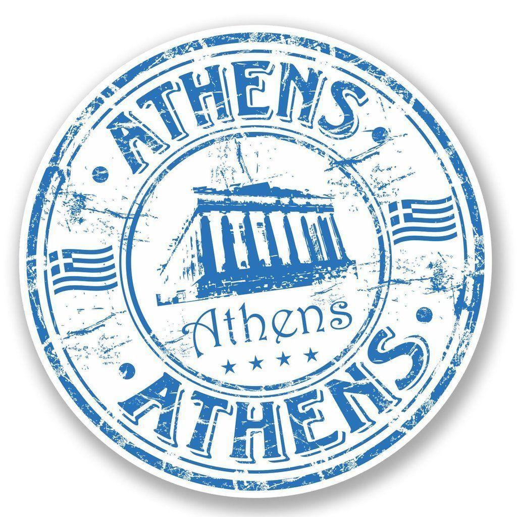 2 X Athens Greece Vinyl Sticker Laptop Travel Luggage Car 5761 Travel Stamp Vinyl Stickers Laptop Sticker Supplies [ 1024 x 1024 Pixel ]