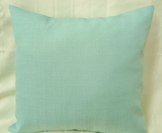 Solid Color Seafoam Green Pillow For By Statestreetcreations