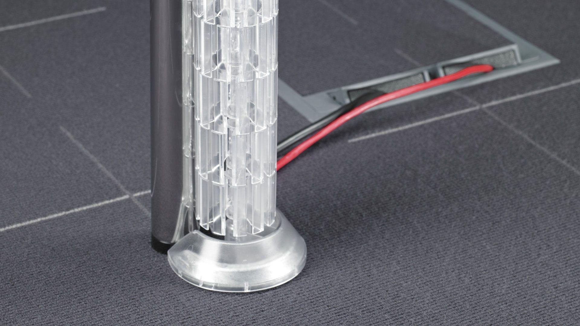 Bueromoebel Metall Kabelkanal vertikal für die problemlose ...