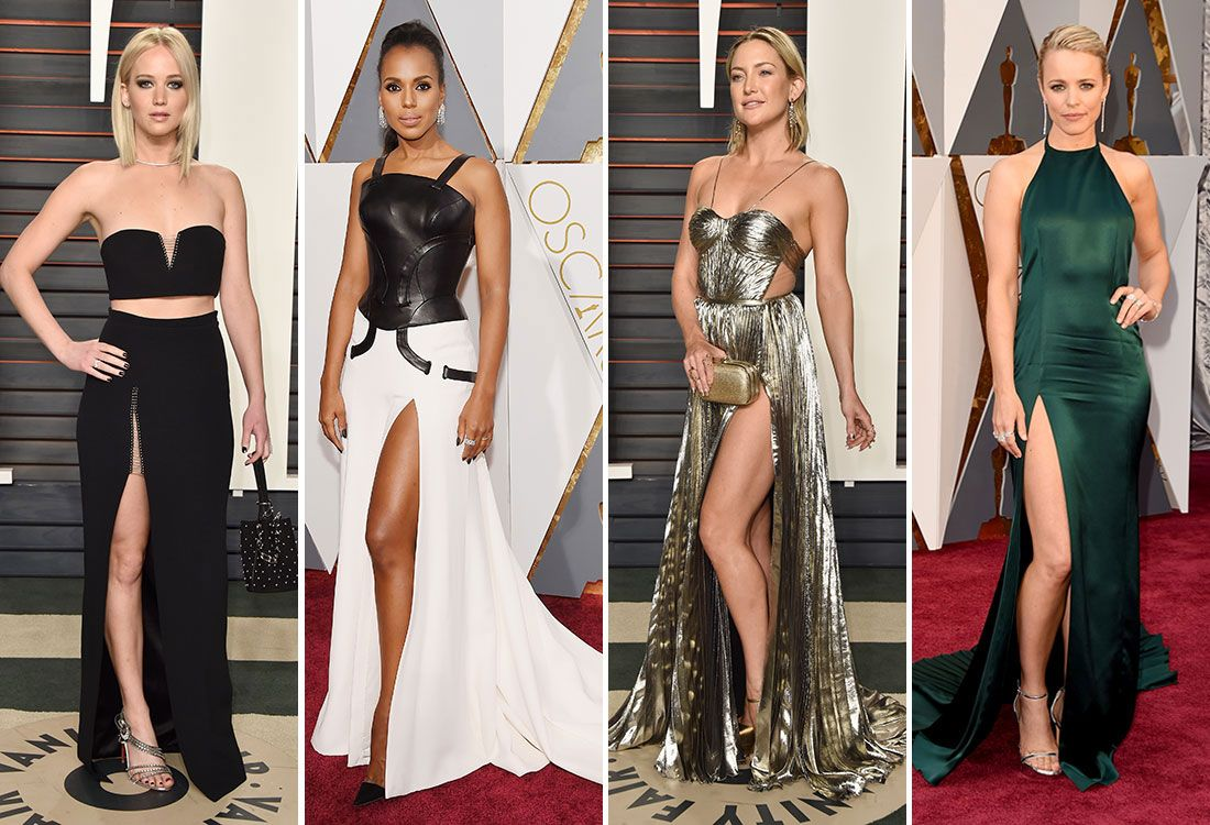 High leg slits are the latest in red carpet trends.