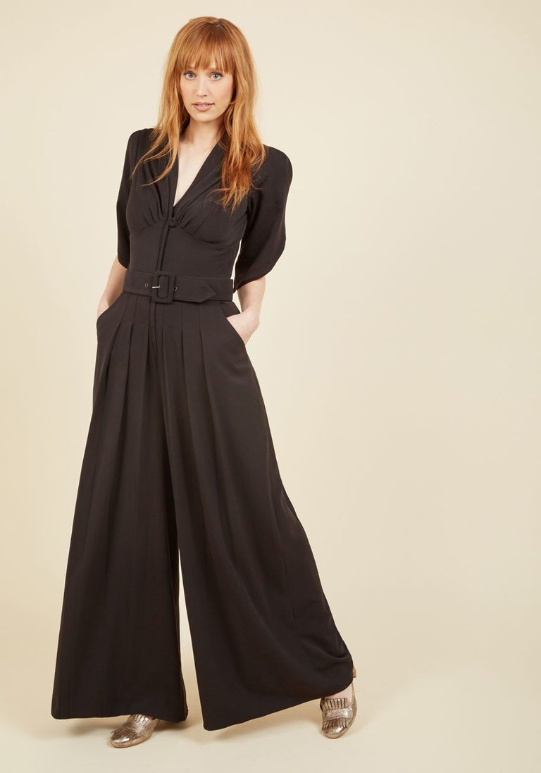 be9a44d04d Miss Candyfloss The Embolden Age Jumpsuit in Noir in XL - by Miss Candyfloss  from ModCloth - Plus Sizes Available