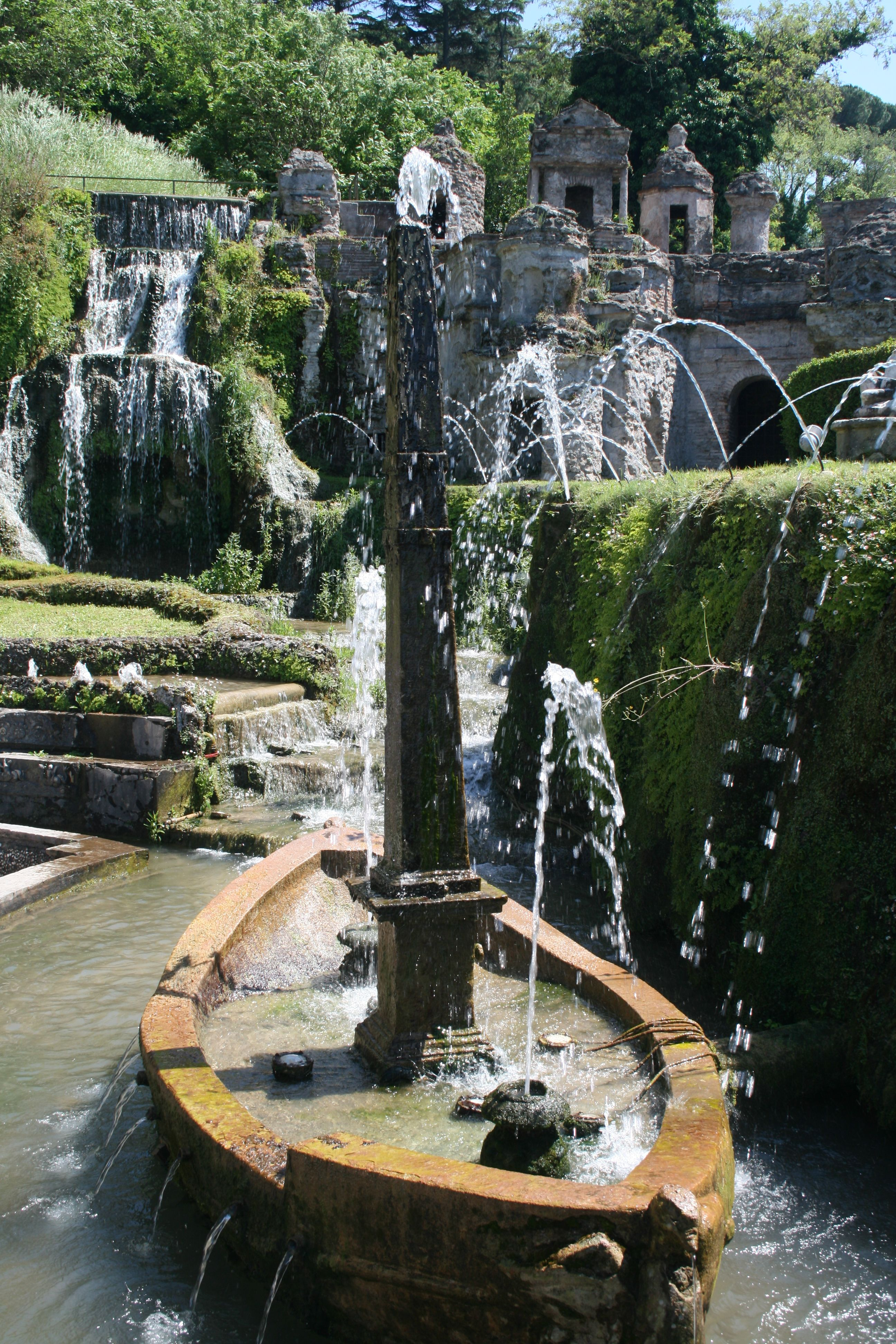 Just one of the breathtaking water features in the ...