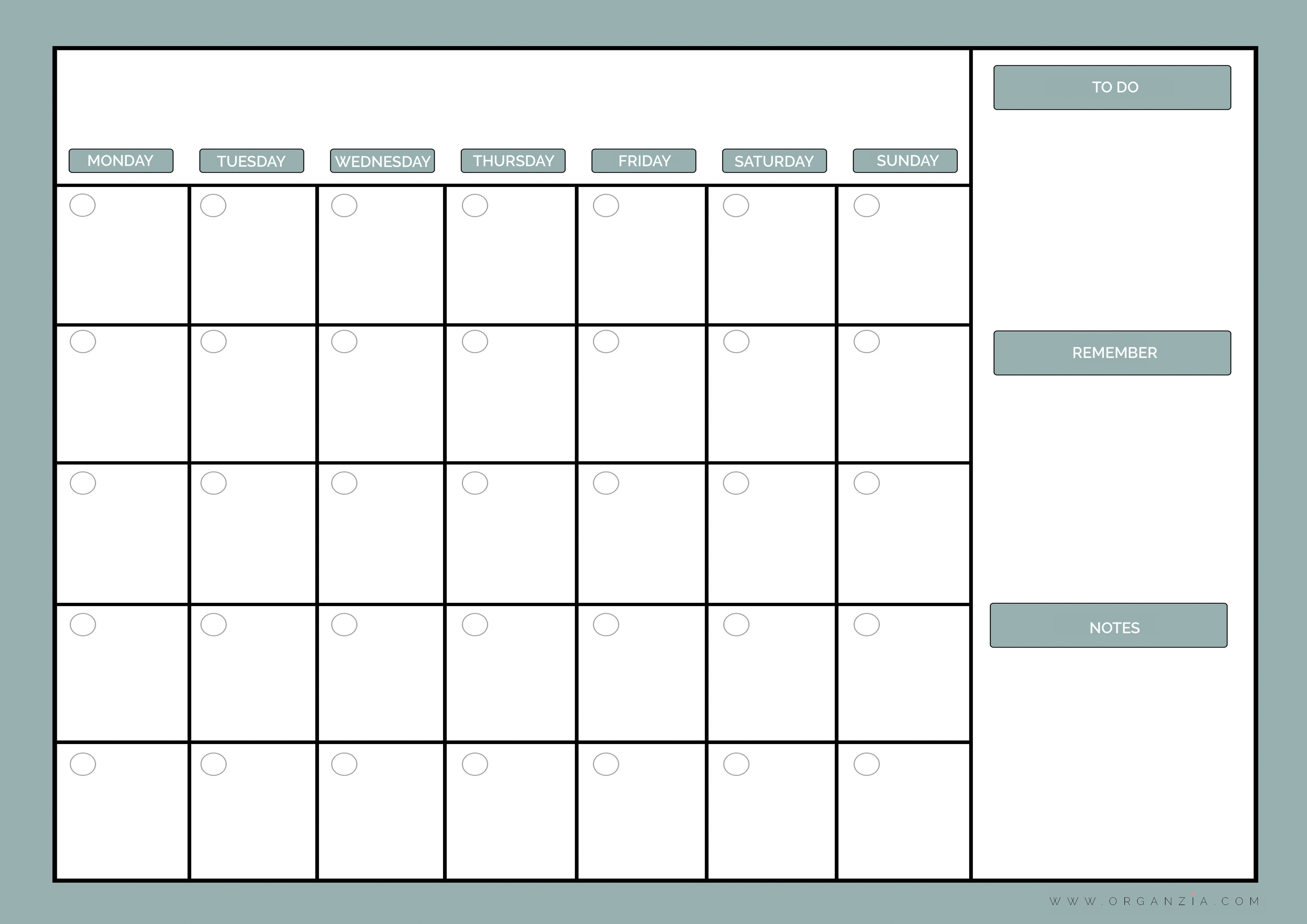 Gratifying image with regard to weekly planner printable