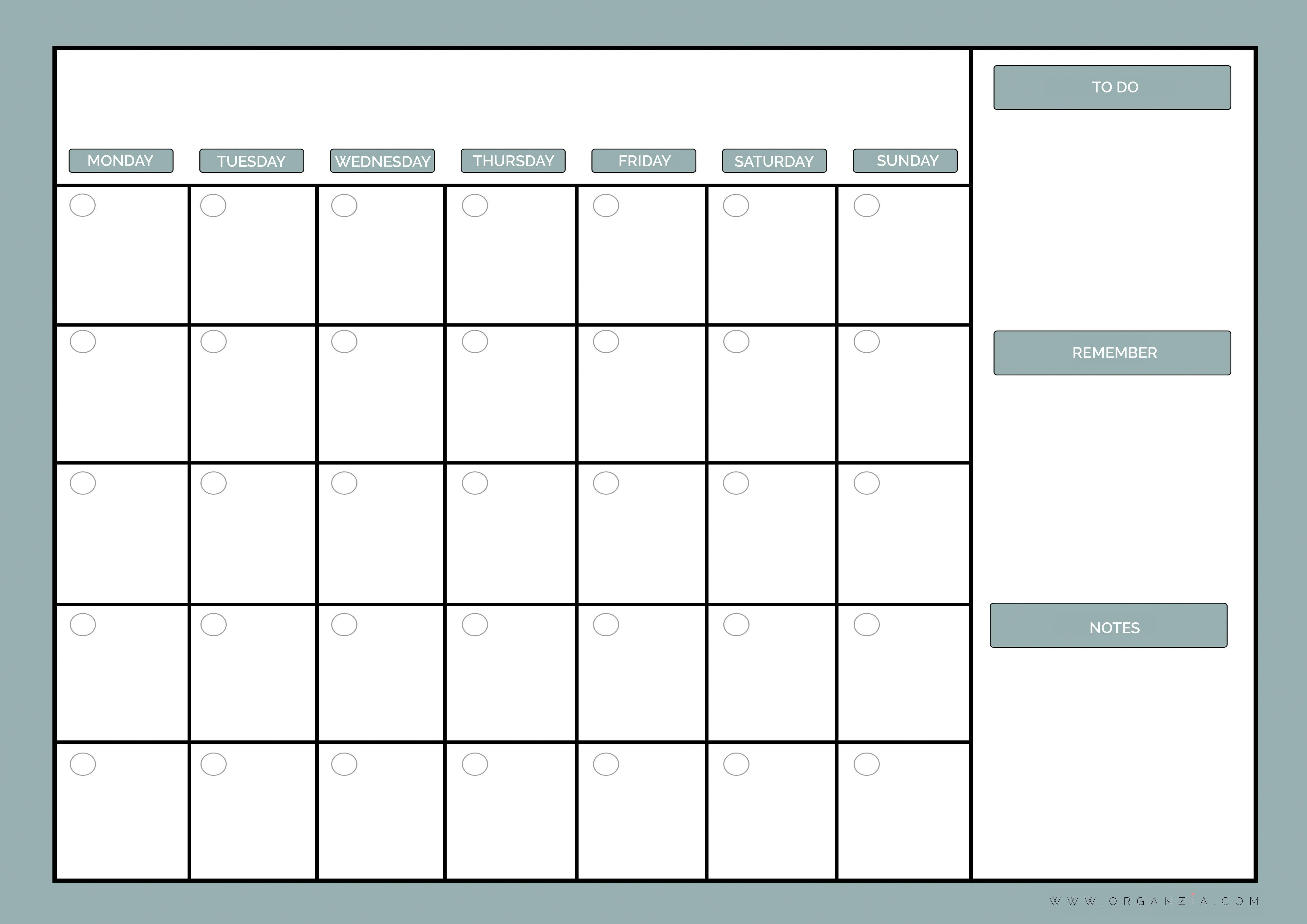 Dynamic image inside weekly planner printable