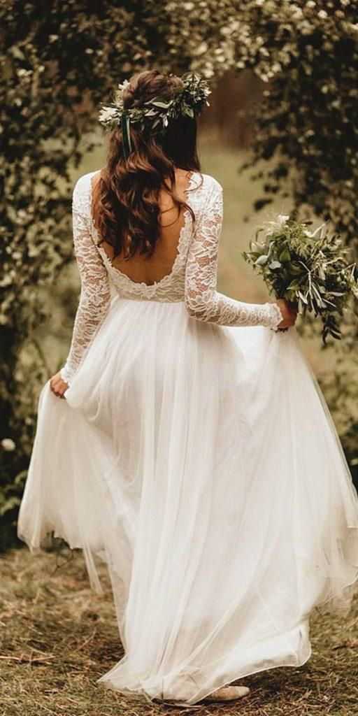 Casando na Primavera: +250 inspirações com fotos | Fall wedding dresses, Boho wedding dress, Lace we