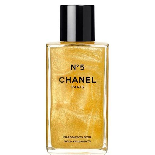56fbf790d5 N°5 - GOLD FRAGMENTS Perfume - Chanel A silky, shimmering body gel ...