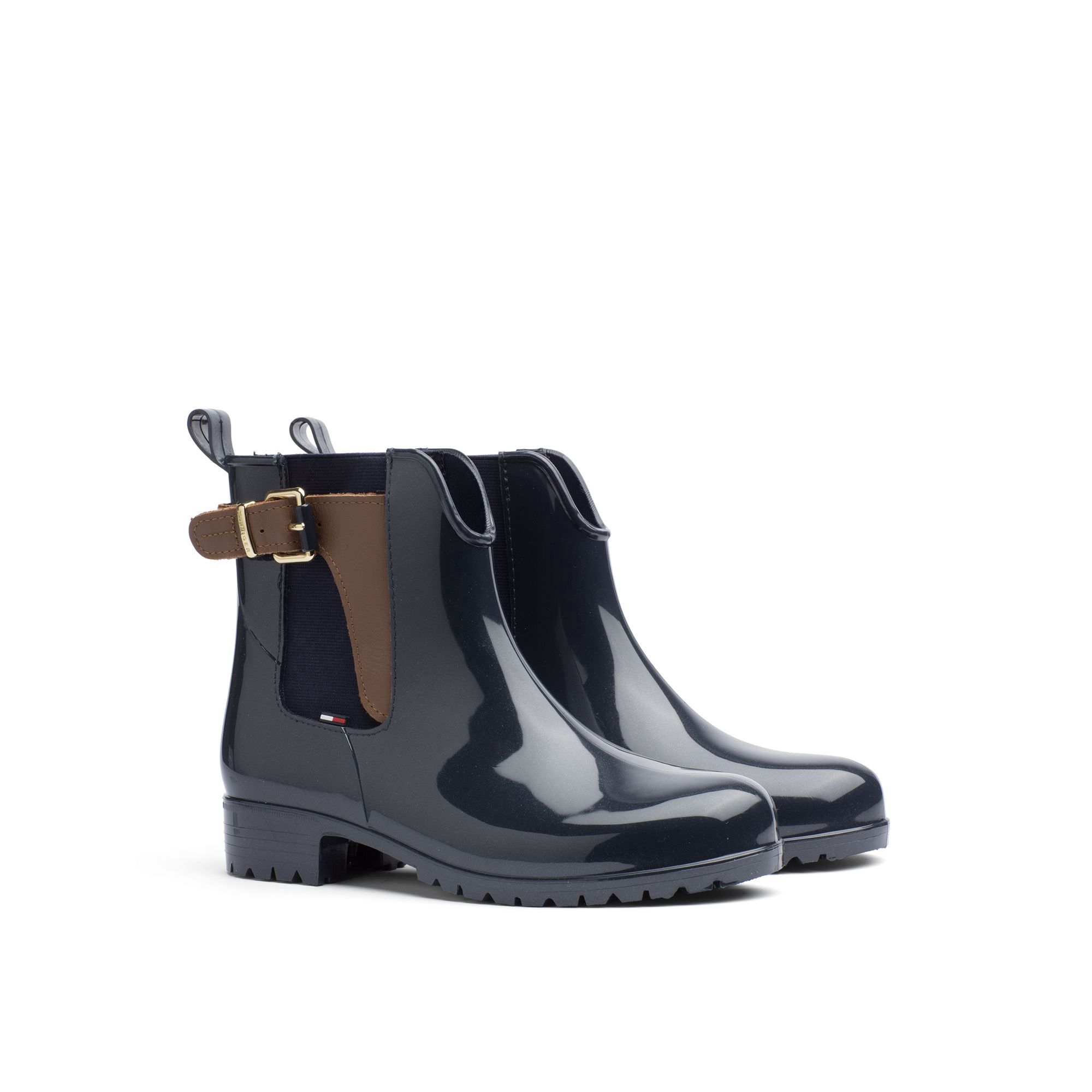 941d28c8 TOMMY HILFIGER BUCKLE RAIN BOOT - MIDNIGHT-WINTER COGNAC. #tommyhilfiger # shoes #