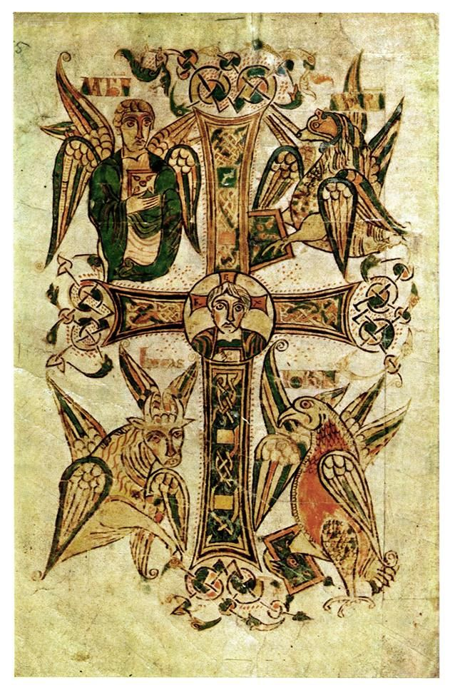 From The Book Of Kells The Four Gospels Celtic Pinterest