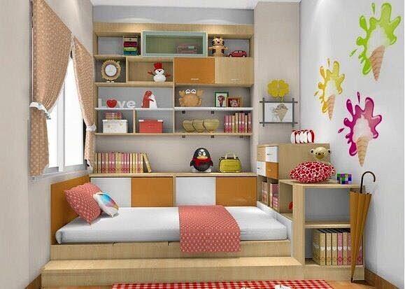 52 dekorasi kamar tidur minimalis anak perempuan for Dekorasi kamar