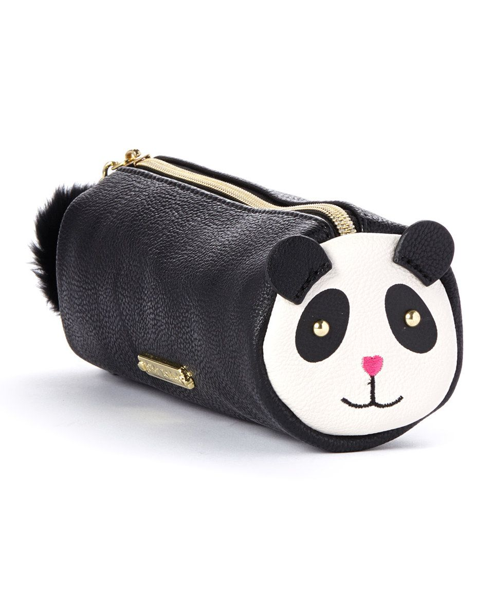 This Bone & Black Panda Pencil Case by Betsey Johnson is perfect! #zulilyfinds