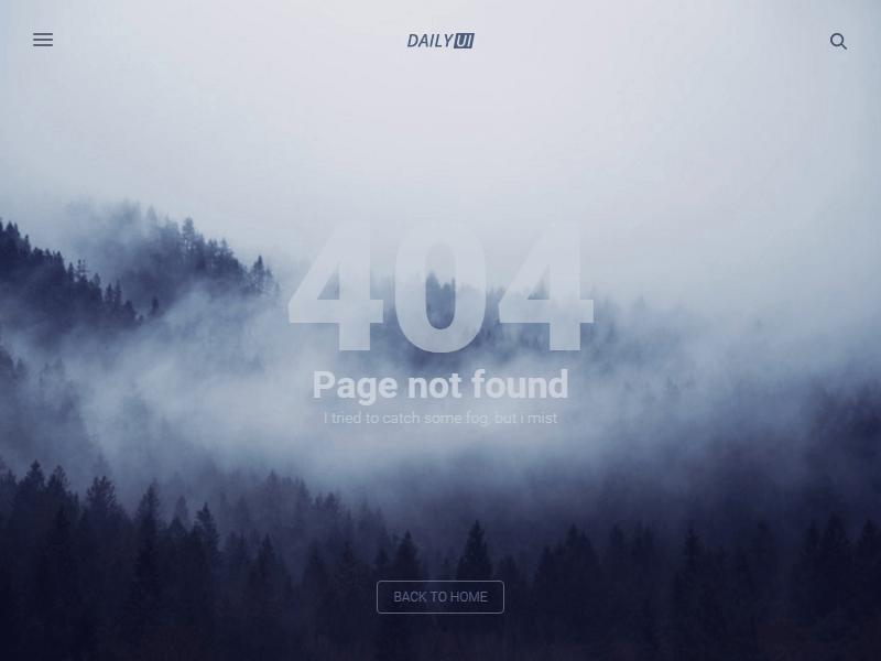 404 Page - DailyUI #008 | Error page design | Web design inspiration