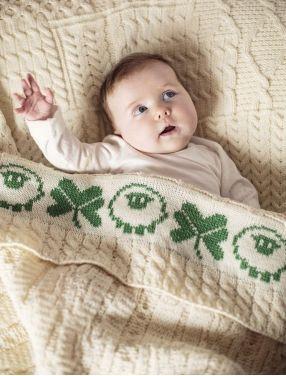 Merino Sheep & Shamrock Baby Throw (With images) | Baby
